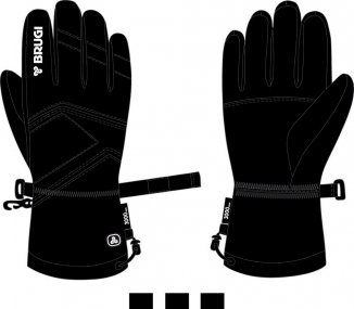 Ski Gloves for Men - Brugi - Art. Z84HY45