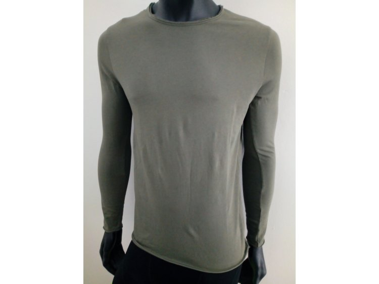 Man T-Shirt in pure Cotton - Long Sleeves | Made in Italy  Art. FK-3106V (1)