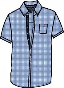 Camicia Estiva Uomo, puro Cotone _ Brugi - Art. CZ17364